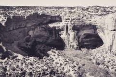 Troglodytic huizen in de Holen van het Nationale Monument van Navajo Royalty-vrije Stock Fotografie
