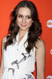 Troian Bellisario arrives at the ABC Family West Coast Upfronts Stock Photography