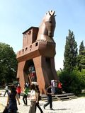 The troian horse in Troy (Truva) Truva. Troy (Truva) it is best known for being the setting of the Trojan War described in the Greek Epic Cycle and especially in Royalty Free Stock Image