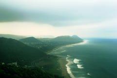 Troical海滩山 库存图片