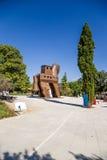 Troie, Turquie Un modèle grandeur nature d'un type hypothétique de Trojan Horse Photo libre de droits