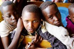 Trois écoliers africains Images libres de droits