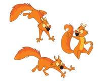 Trois écureuils Photos libres de droits