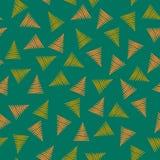 Trois éléments de triangle de couleur, Memphis ont inspiré le modèle sans couture de vecteur illustration stock