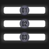 Trois étapes infographic Photographie stock