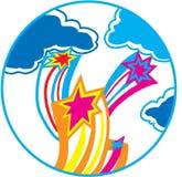 Trois étoiles Photos libres de droits