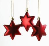 Trois étoiles de Noël Photographie stock