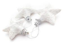 Trois étoiles de Noël blanc Image stock