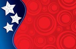 Trois étoiles et cercles   Image libre de droits