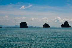 Trois îles Images stock