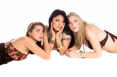 Trois amie sexy photos libres de droits