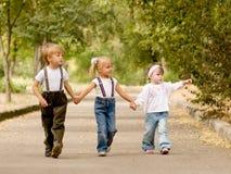 Trois amis Image libre de droits