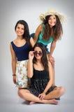 Trois amis Photos stock