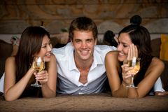Trois amis Images stock