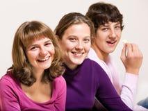 Trois amis d'adolescent Photo libre de droits