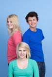 Trois amis d'adolescent Image libre de droits