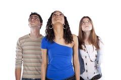 Trois amis d'adolescents Image libre de droits