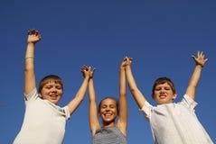 Trois amis de la préadolescence Image stock