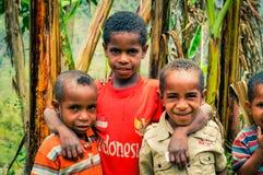 Trois amis en Indonésie Photographie stock