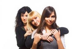 Trois amis féminins Photos stock