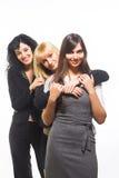 Trois amis féminins Images stock