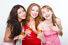 Trois amis féminins Image libre de droits