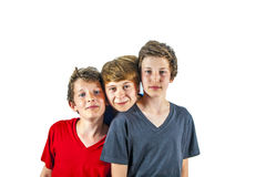 Trois amis joyeux heureux Image stock
