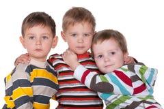 Trois amis proches Image libre de droits