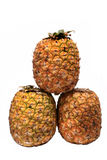 Trois ananas Photos libres de droits