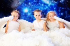 Trois anges Photographie stock