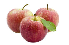 Trois Apple rouge frais Images stock