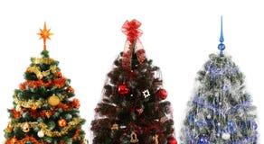 Trois arbres de Noël Photos libres de droits