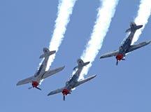 Trois avions acrobatiques aériens Photos libres de droits
