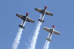 Trois avions acrobatiques aériens Photographie stock