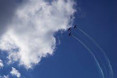 Trois avions dans le ciel Images stock