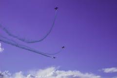 Trois avions dans le ciel Photographie stock