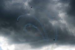 Trois avions dans le ciel Photos stock