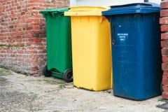 Bacs de recyclage Photographie stock