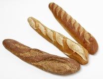 Trois baguettes françaises Images libres de droits
