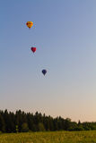 Trois ballons photographie stock