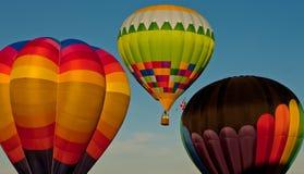 Trois ballons aéroportés Images libres de droits