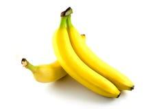 Trois bananes jaunes Photo stock