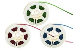 Trois bandes magnétiques de film Photos libres de droits