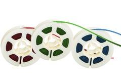 Trois bandes magnétiques de film Photo stock