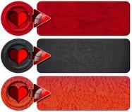 Trois bannières d'amour Image libre de droits
