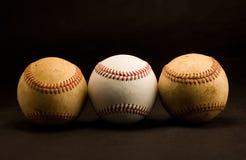 Trois base-ball Photographie stock libre de droits