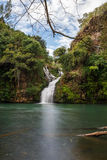Trois Bassin; one of the waterfalls in between the mountains of Reunion Island Stock Image