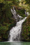 Trois Bassin; one of the waterfalls in between the mountains of Reunion Island Stock Photography