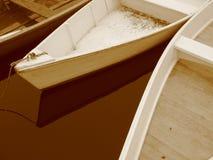 Trois bateaux à rames photo libre de droits