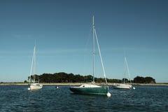 Trois bateaux Photographie stock
